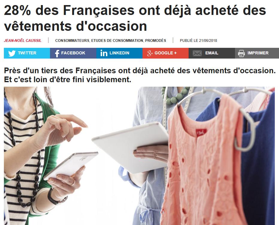 1/3 des Françaises ont déjà acheté des vêtements d'occasion